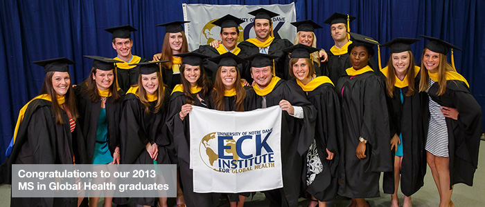 Graduating class with Eck flag