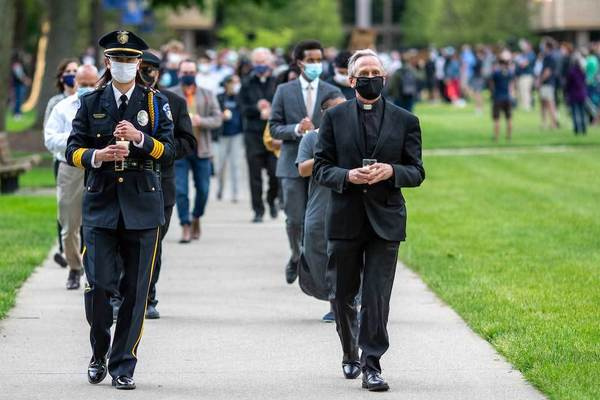 Notre Dame community gathers in support of unity and racial justice